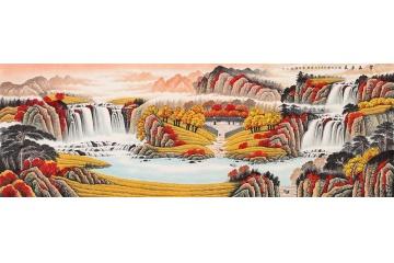 聚宝盆b款 李林宏山水画作品《紫气东来》