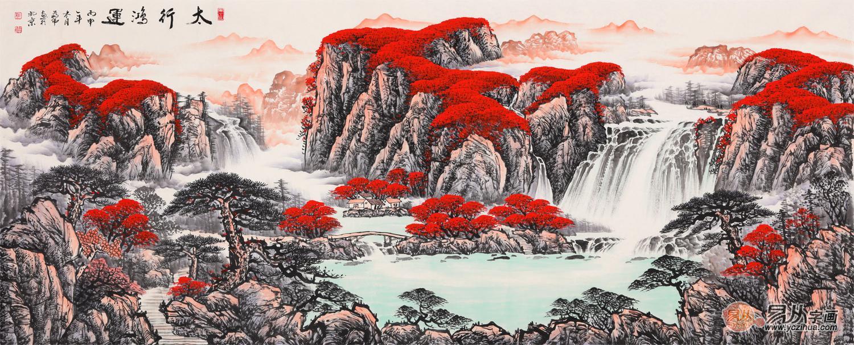 蒋伟山水画最新力作 国画手绘真迹欣赏