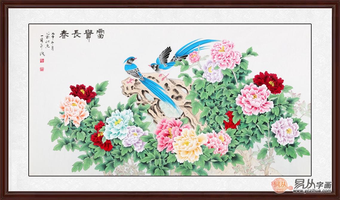 室内客厅挂哪些画 精致花鸟画让你无法不爱