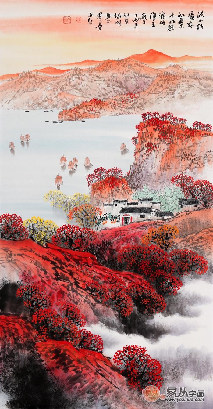 【名作赏析】中国当代名家竖幅山水画作品欣赏_古代