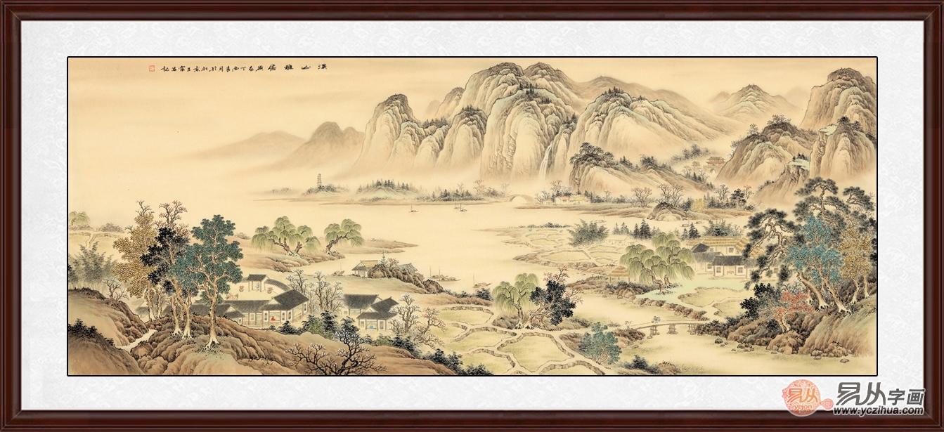 古色古香 气韵生动的仿古山水画作品欣赏图片