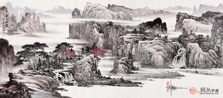 中国当代山水画家---林德坤山水画作品欣赏