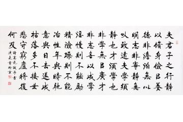 当代实力派书法家史洪亮楷书书法《诫子书》图片