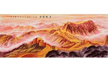 李林宏最新力作八尺横幅国画长城作品《长城雄风》