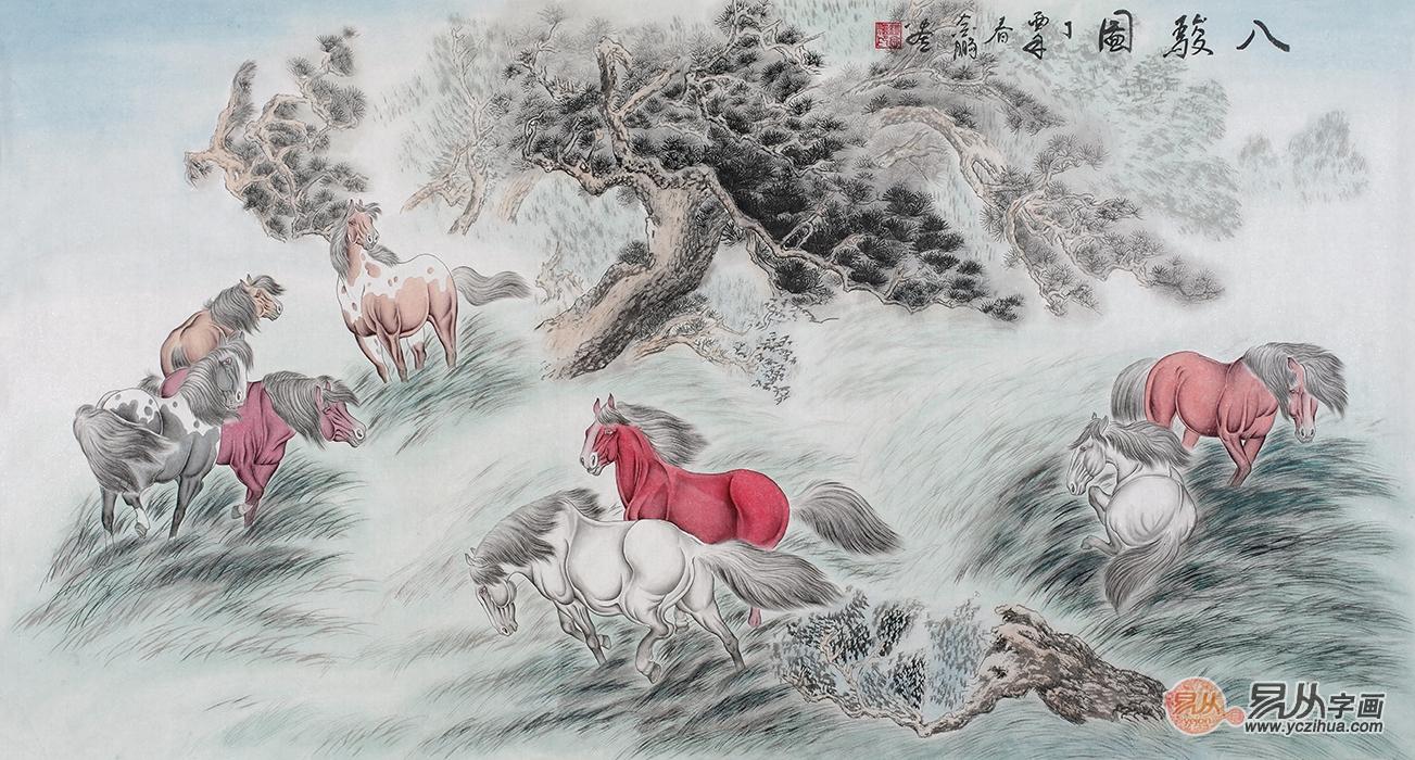 杨金鹏工笔动物画作品欣赏 2017现代家居装饰画推荐