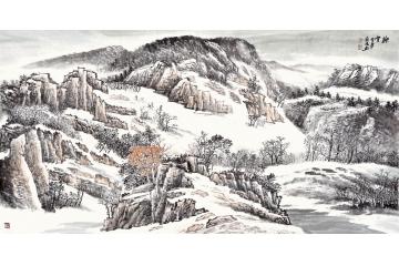 山水分类:雪景山水画 x用途:过节送礼 x图片