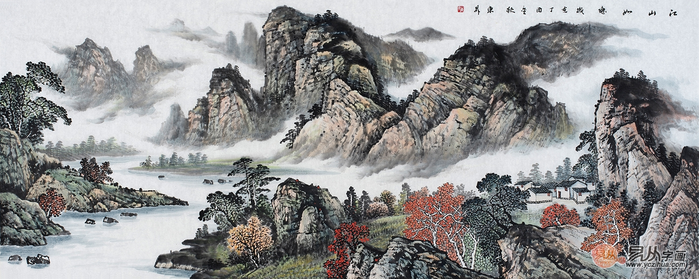 河北山水画家赵洪霞,手绘精品佳作鉴赏