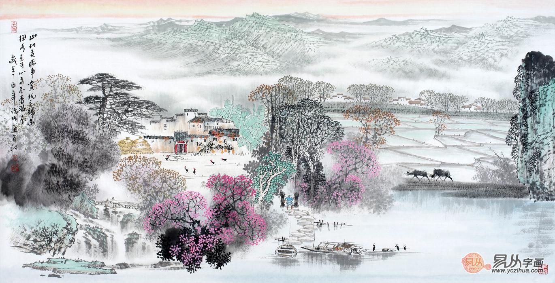 诸明 国画 山水画 江南图片