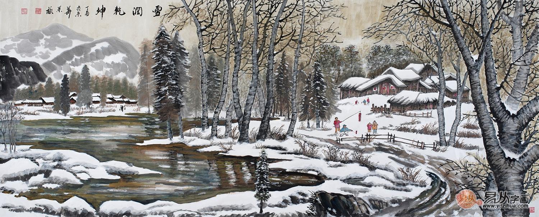 世界名画风景雪景