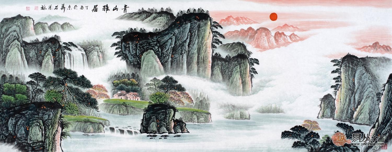 山水画 装饰画 国画 风水画