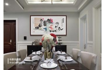 客厅装饰画 晋葆良精品佳作动物画 猫 《和谐家园》