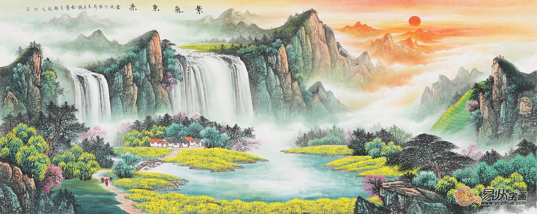 家居悬挂春景山水画,打造简洁大方之家图片