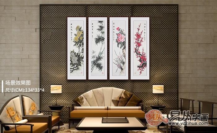 中式家装适合挂什么画 精美花鸟画最合适