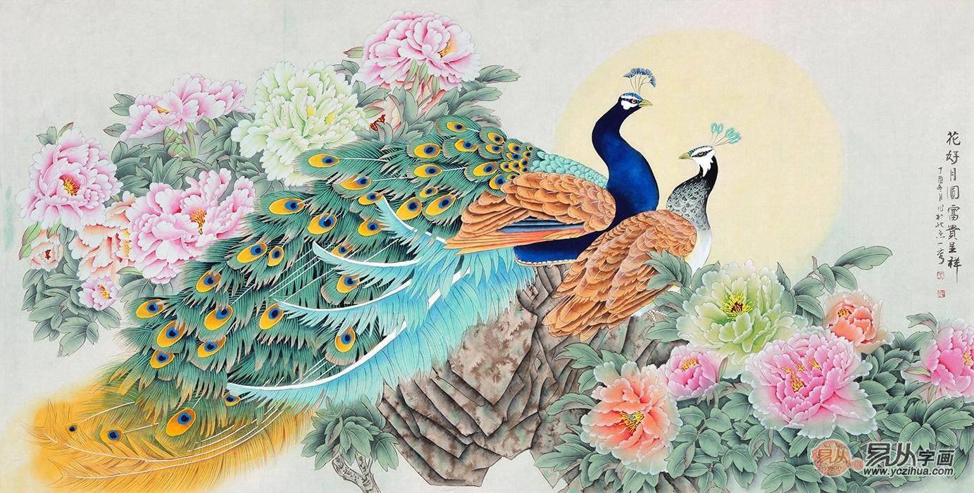卧室挂什么画好  花鸟画提高生活的品质