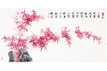 李傳波紅竹畫《令狐相公見示贈竹二十韻仍命繼和》