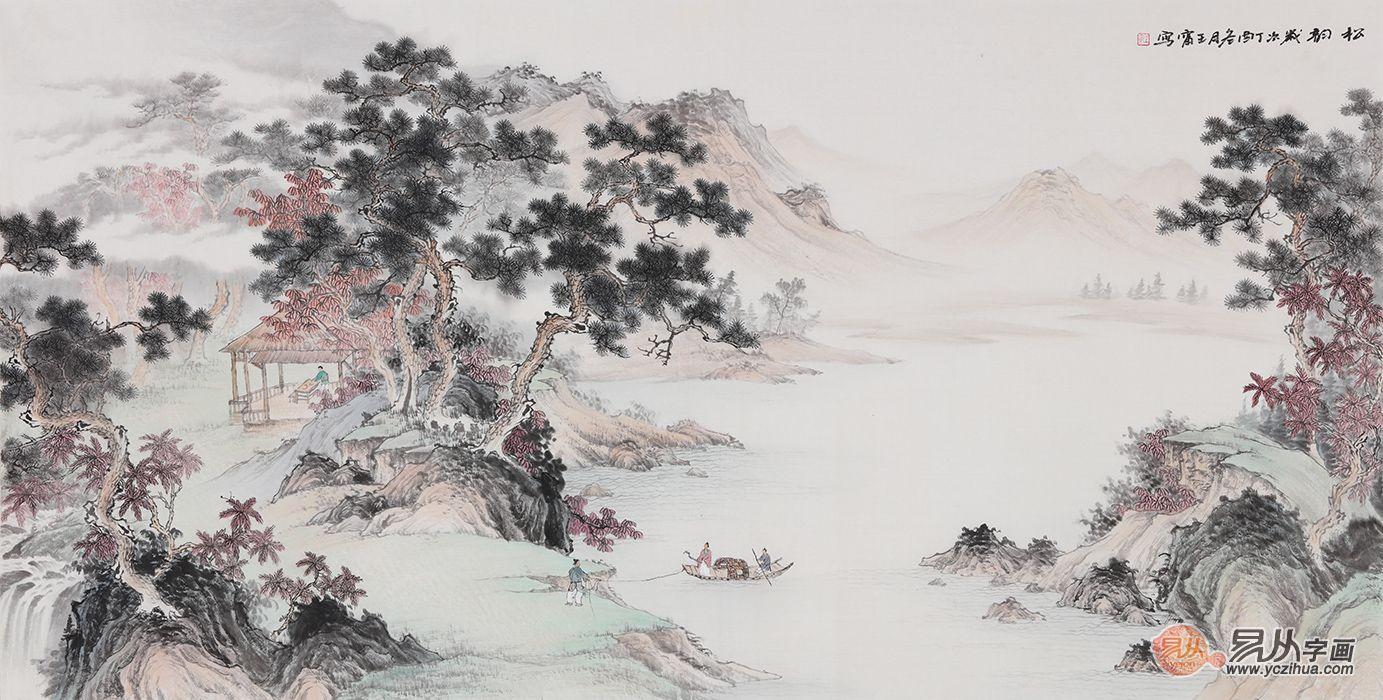 客厅装饰山水画