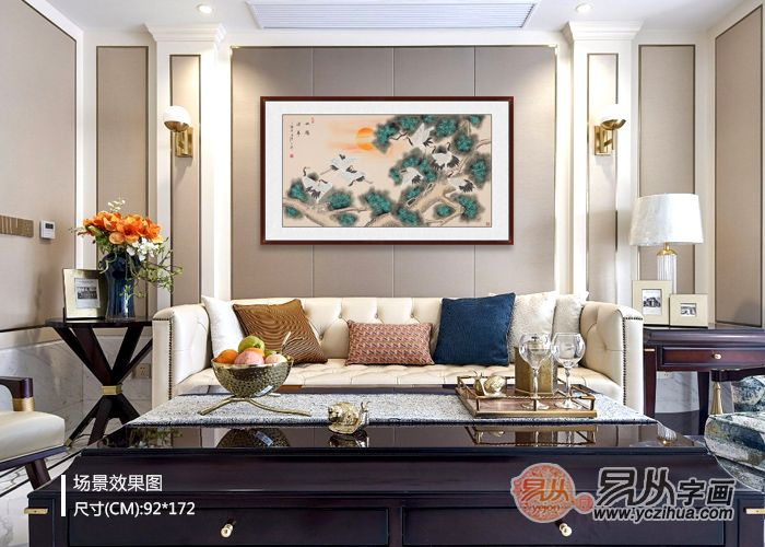 客厅挂画挂什么好  花鸟画塑造家居好风景