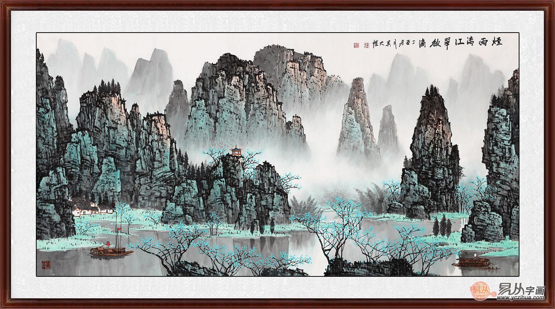江南美景形象墙风景画