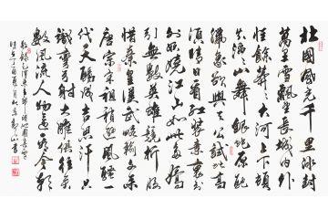 國賓禮書法家觀山作品《沁園春雪》