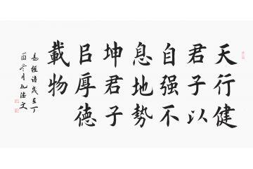 易經名言 田英章親傳弟子孔德文書法《天行健》
