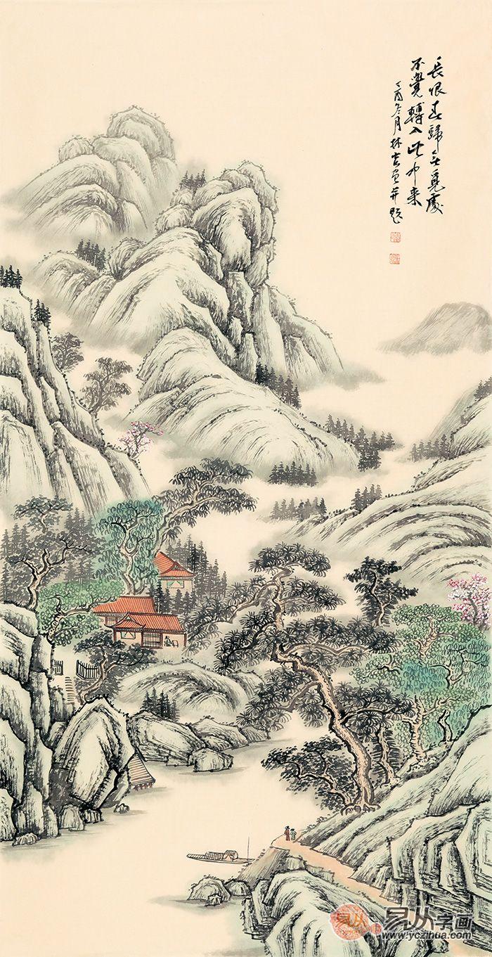 中式书房适合什么字画,山水画打造古风书屋