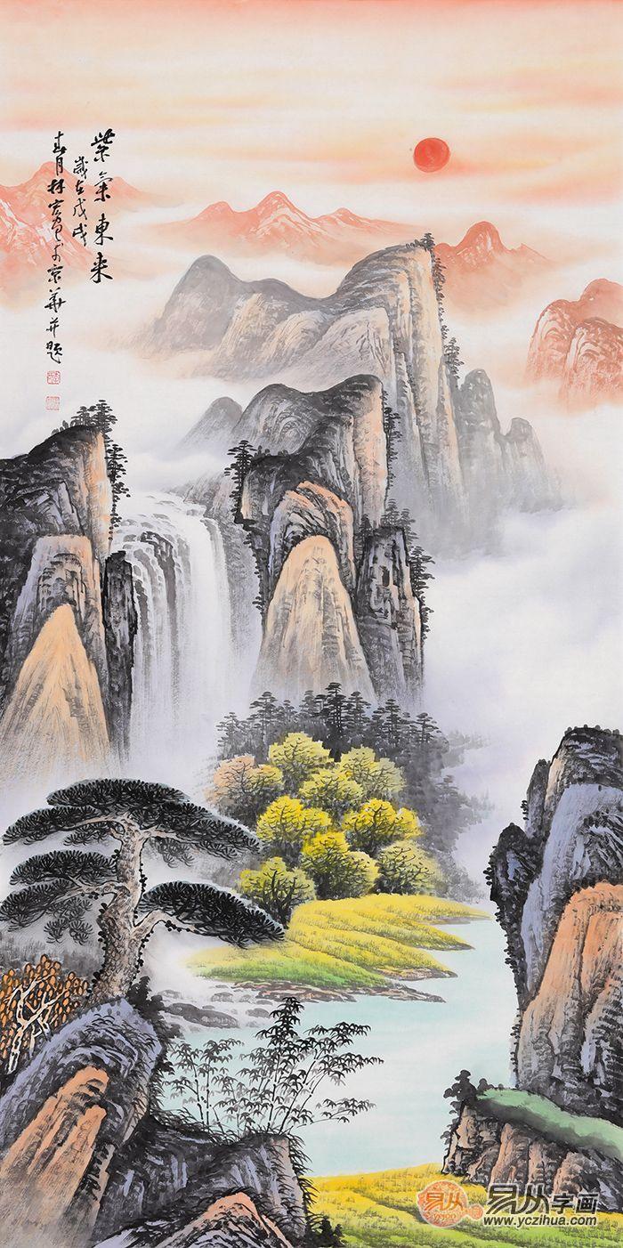 给老人祝寿送幅李林宏的山水画怎么样 李林宏 山水画