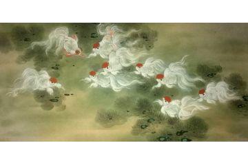 中国美术家协会会员蓝健康四尺作品《金玉满堂》