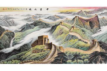 李林宏最新創作六尺橫幅萬里長城《中華之魂》