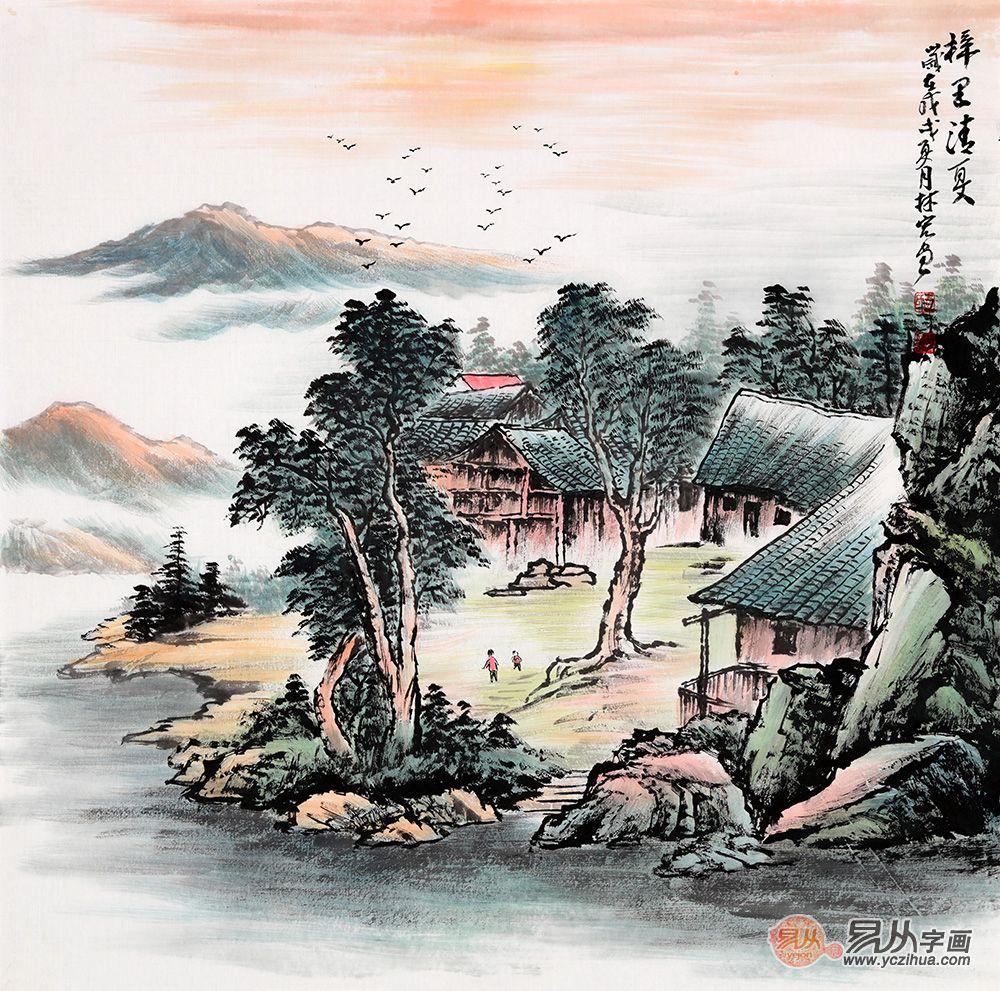 进门玄关墙上挂什么画比较合适 山水画 李林宏