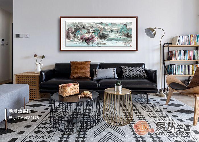 求推荐客厅沙发背景墙山水画,最好是名家画的