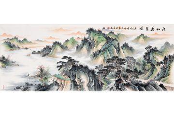 仿古精品畫 張利典藏國畫新品《江山萬里順》
