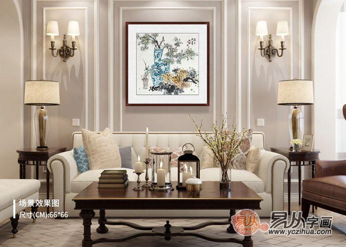 客厅装饰挂什么字画好,名家花鸟画有颜又有品