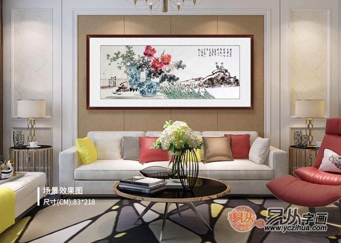 家里客厅挂什么画好,名家手绘花鸟画真迹让人心动