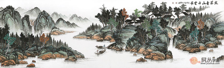 畫壇黑馬吳大愷山水畫作品欣賞,行墨之間妙道自然!
