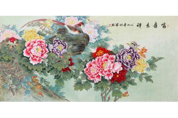 新生代潛力畫家羽墨新品牡丹畫《富貴吉祥》