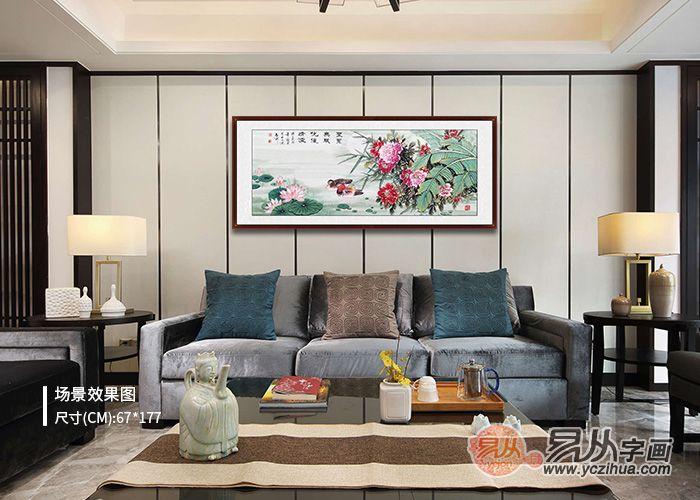 家中客厅沙发后面挂什么画好 花鸟怡情 纵想生活之乐