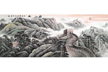 萬里長城國畫 宋唐新品力作步步高升圖《雄風》