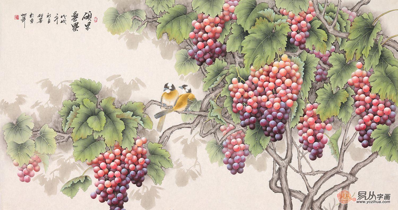 餐厅挂什么画好 花鸟画开启你的美好心情