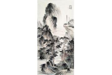 李佩錦最新力作四尺國畫新品《山水清音》