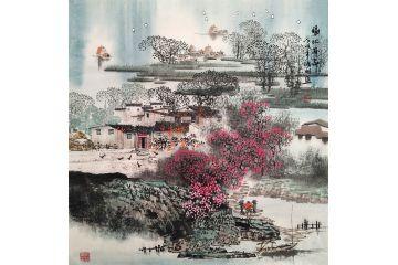 室內裝飾畫 諸明最新江南山水畫《福地安家》