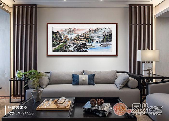 现代家居客厅装饰画选择国画山水 打造强势客厅美感