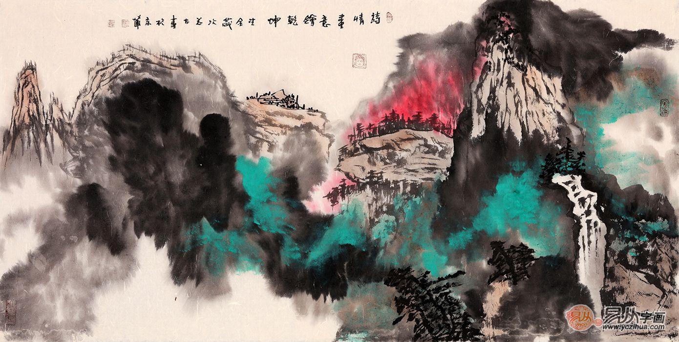 解析山水画,品读书画家张若古笔下的山水意境