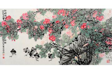 中美協會員王忠義畫冊作品《春風暖開吉祥花》
