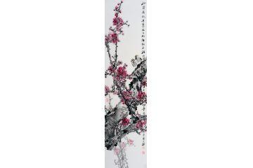 中美協畫家王忠義寫意花鳥畫《冬》
