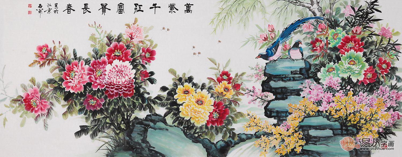 酒店装饰挂什么画显品质 清香引出月中仙 高雅风韵数国画花鸟画