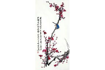鄭曉京老師梅蘭竹菊四君子國畫之《梅》
