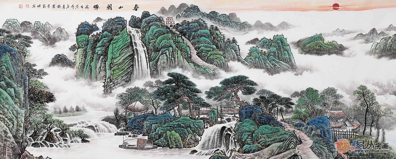 李林宏写意山水画赏析 李林宏 山水画