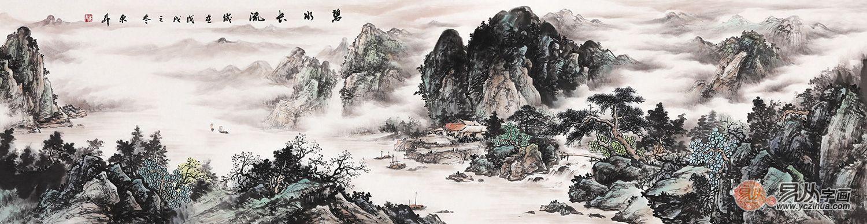 趙洪霞山水畫作品賞析 山水畫