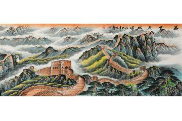 龍抬頭之步步高升 宋唐新品山水畫《萬里長城圖》