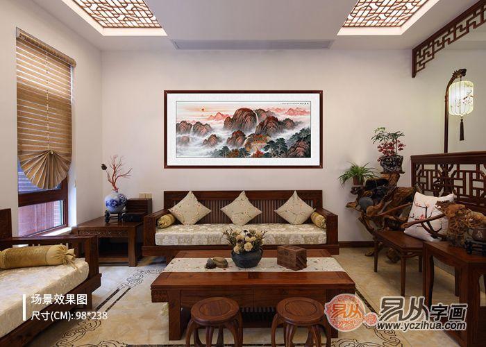 什么大幅山水画适合用来作为客厅墙面装饰画
